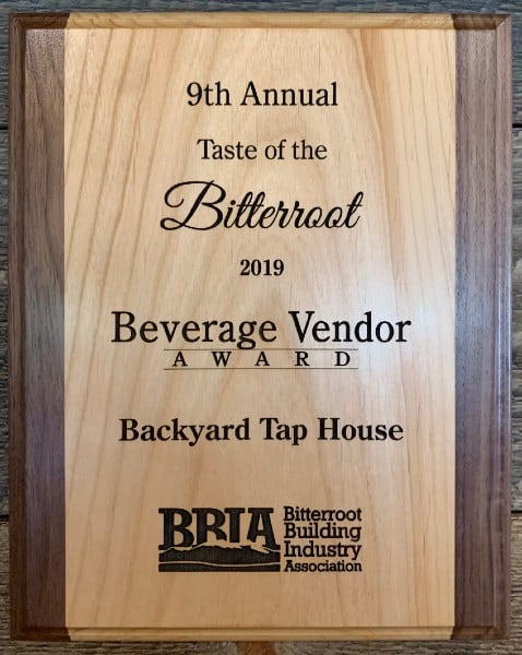 Bitterroot Tour of Homes - Beverage Vendor Award