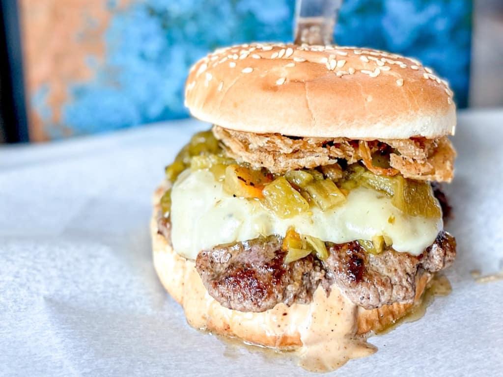Hatch Green Chili Smash Burger