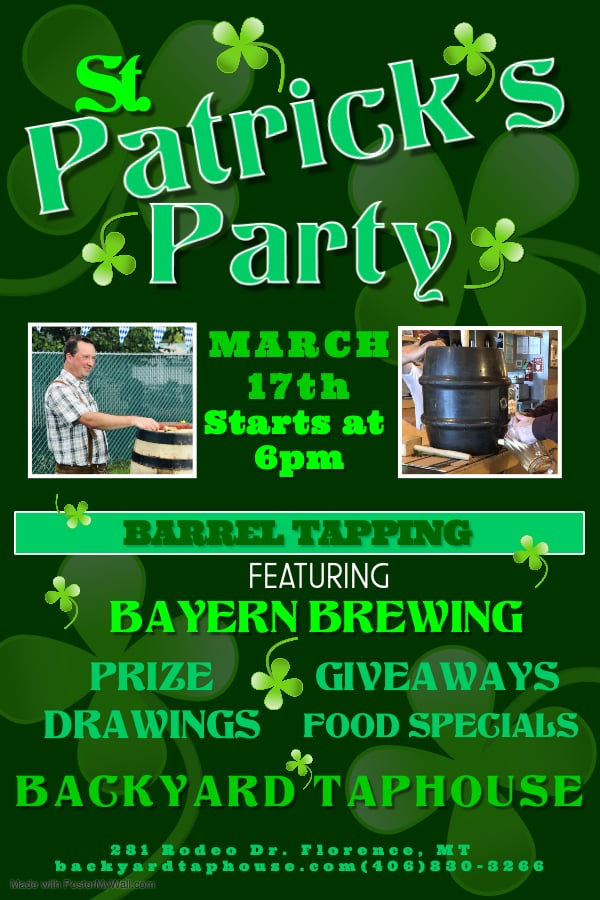 CANCELLED - St. Patty's Day w/ Bayern Wooden Keg Tapping