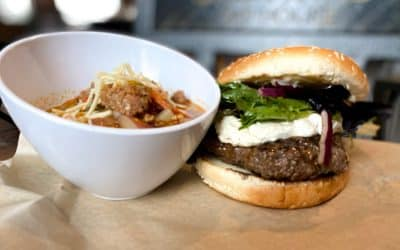 Bacon Goat Cheese Burger & Chorizo Sausage & Corn Soup | Backyard Weekly Specials