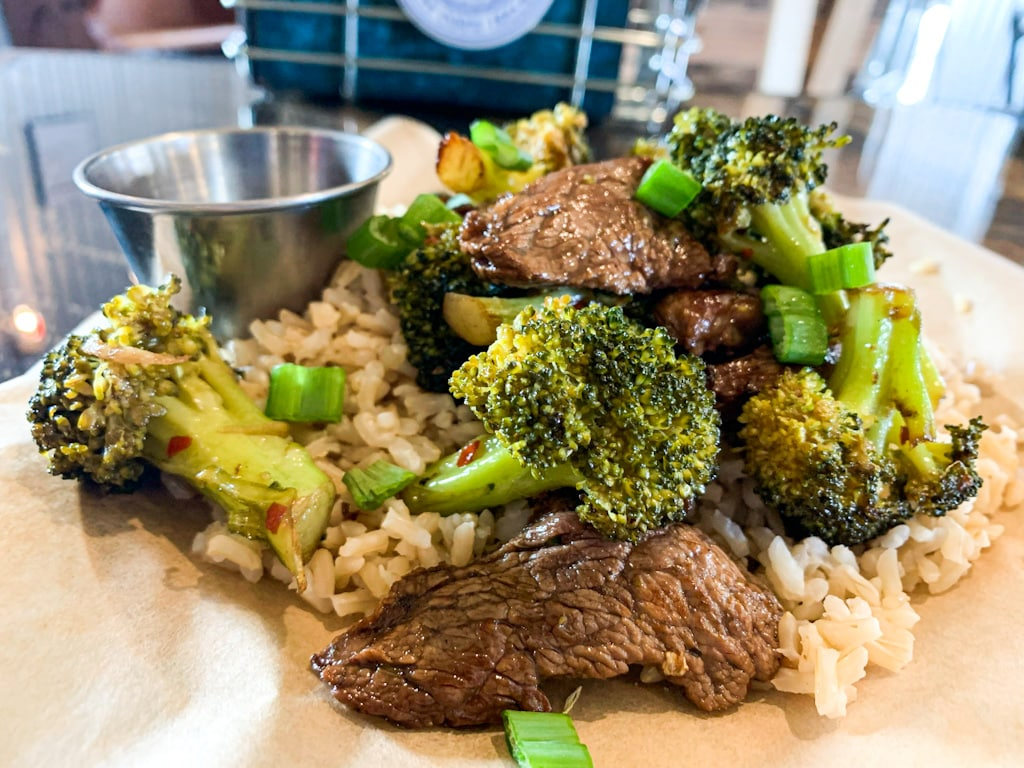 Beef & Broccoli Rice Bowl | Florence, MT | Backyard Tap House