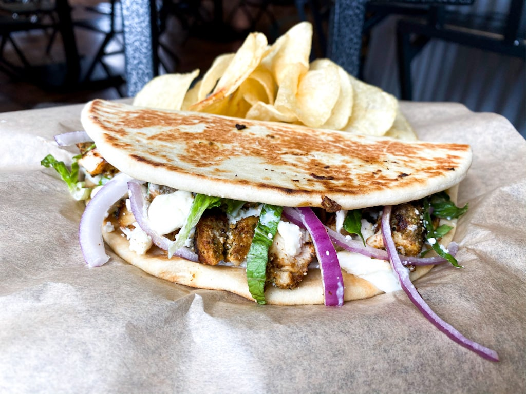 Chicken Feta Pita | Florence, MT Backyard Tap House