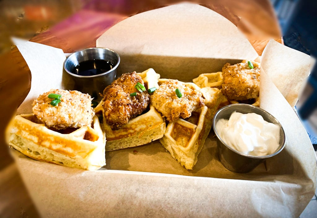 Chicken & Waffles | Backyard Brunch