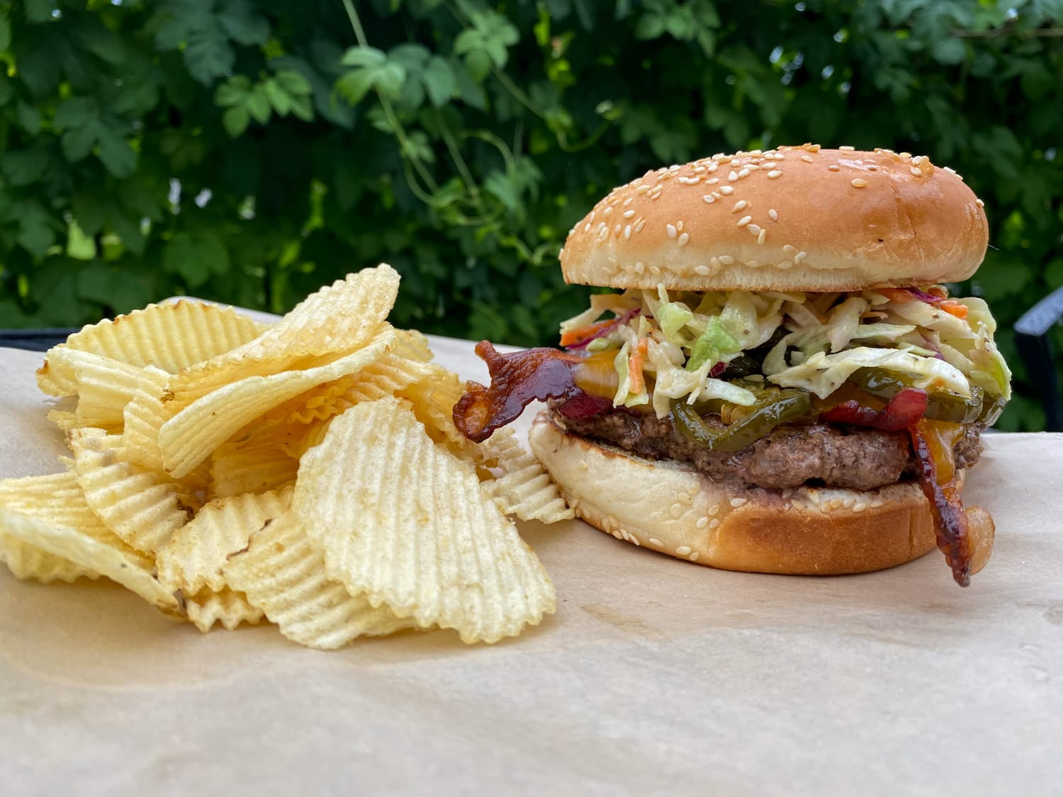 Slaw Burger - Weekly Special   Backyard Tap House - Florence, MT