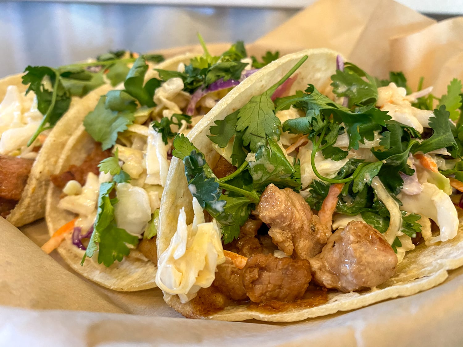 Teriyaki Pork Tacos - Weekly Special | Backyard Tap House - Florence, MT