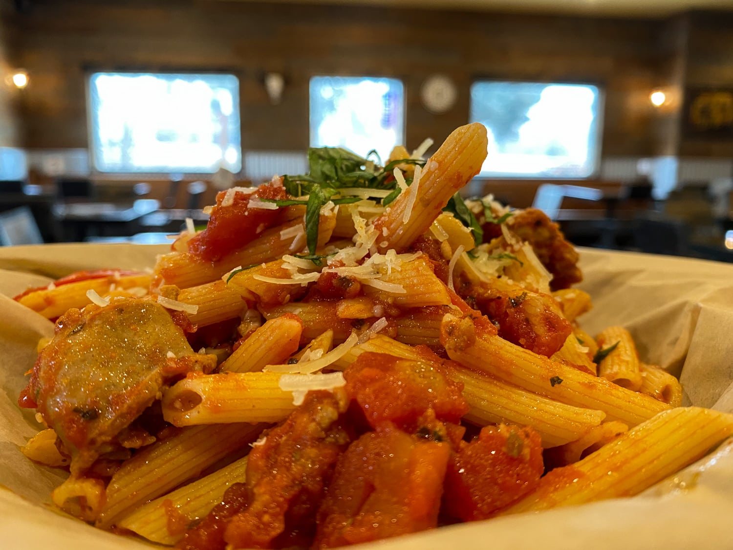 sausage-penne-pasta-weekly-special-backyard-tap-house-florence-mt